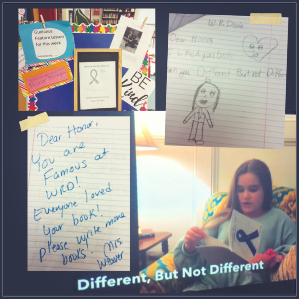 Honor Draughn author of Different but not Different a book making a difference for students in Davie County schools